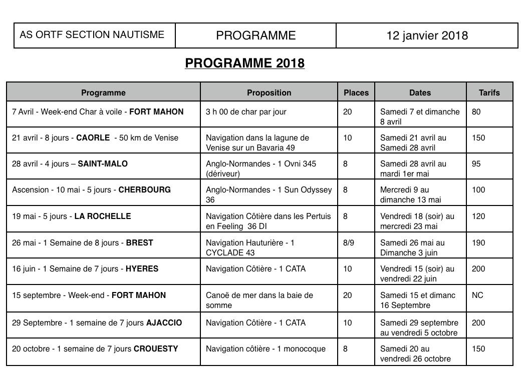 Programme Nautisme